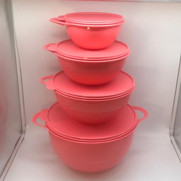 Tupperware Set of 4 Thatsa Bowls Mixing